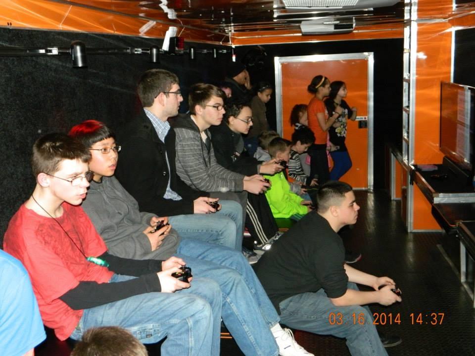 orange Stadium Seating for 24!